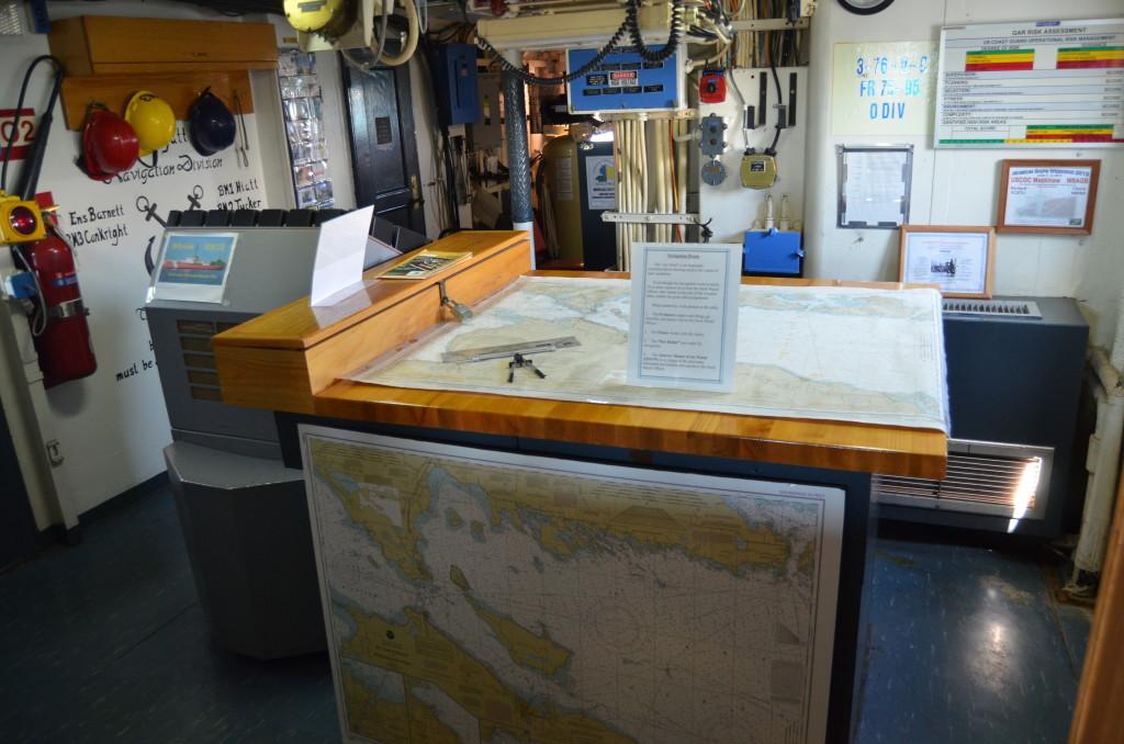 Icebreaker Mackinaw Maritime Museum Chart Room