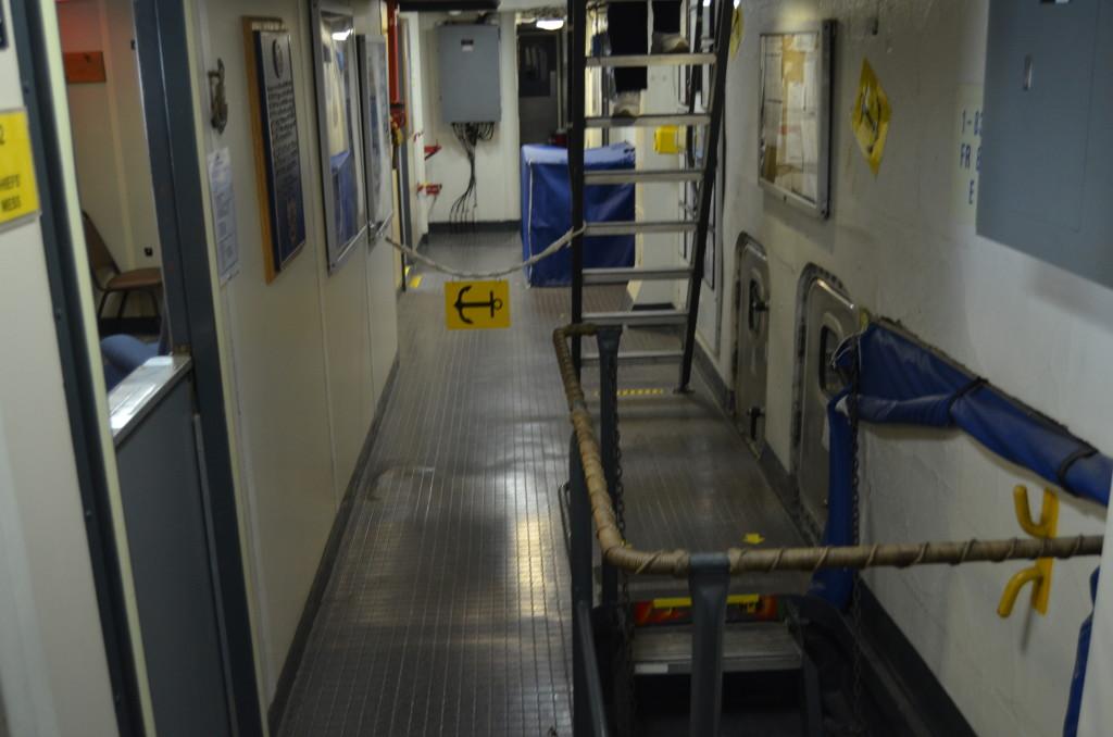 Icebreaker Mackinaw Maritime Museum Interior Hallway
