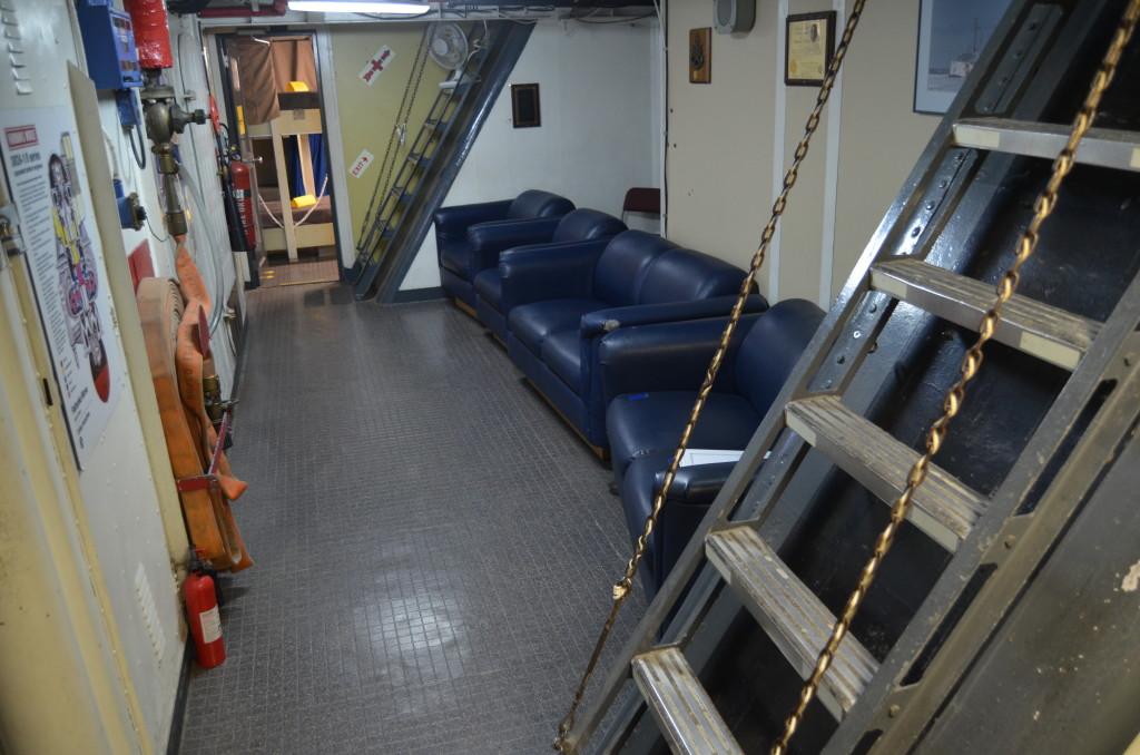 Icebreaker Mackinaw Maritime Museum Interior Stairwell