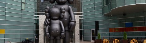 Michigan Roadside Attractions: Waiting Sculpture by Kaws, Detroit