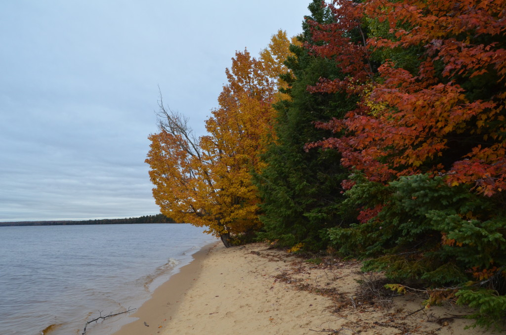 Whitefish Bay Scenic Byway Fall Color Beach