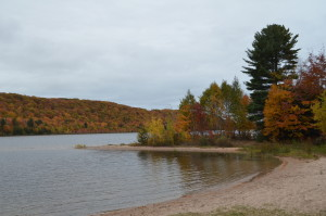 Whitefish Bay Scenic Byway Monocle Lake Fall Color