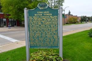 Ypsilanti Water Tower Michigan Historical Marker
