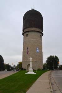 Ypsilanti Water Tower Michigan Vertical