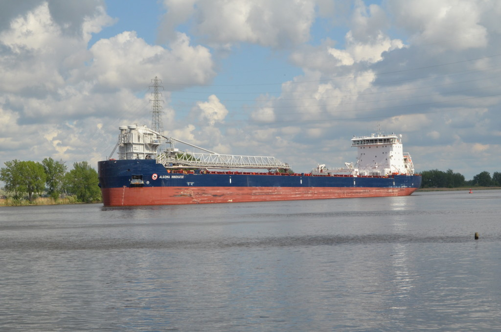 Freighter Algoma Innovator on the Saginaw River