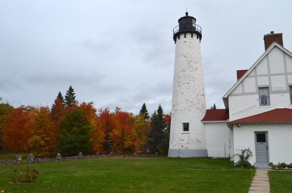 Point Iroquois Lighthouse in the fall