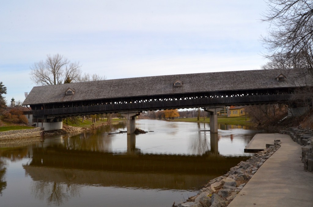 Holz Brucke wooden bridge, Frankenmuth