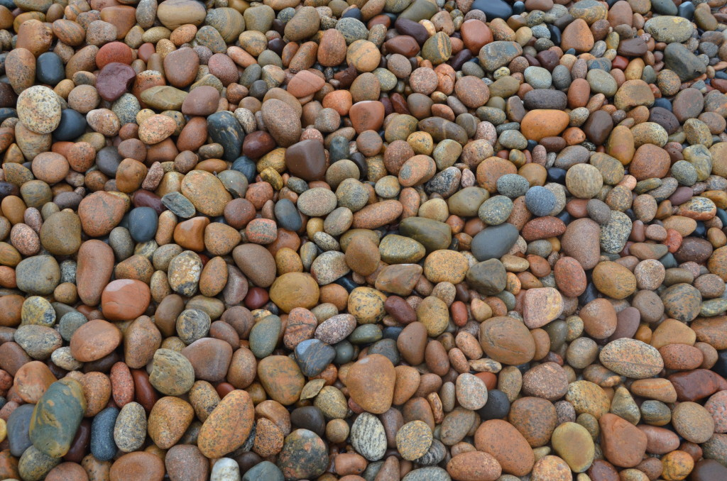 Rocky beach at Whitefish Point