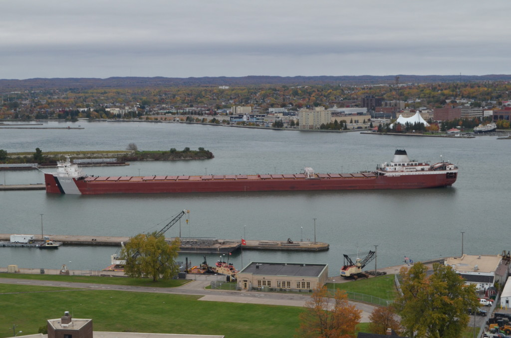 Roger Blough photographed from Tower of History, Sault Ste. Marie
