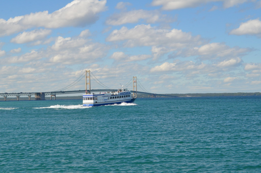 2018 Michigan Best Photos Sheplers Ferry Mackinac Bridge