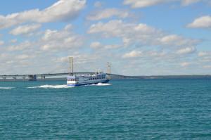 2018 Michigan Best Photos Sheplers Ferry Mackinac Bridge
