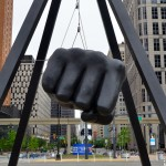 Michigan Roadside Attractions: Joe Louis Fist, Detroit
