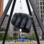 Michigan Roadside Attractions: Joe Louis Fist, Detroit