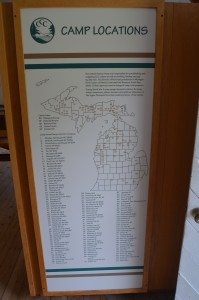 Michigan Civilian Conservation Corps Map Locations