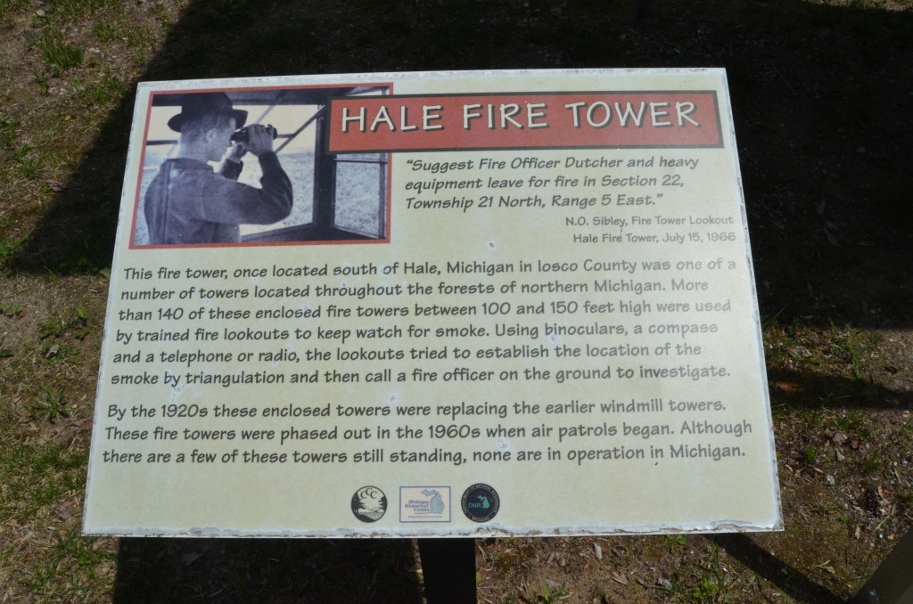 Michigan Civilian Conservation Corps Museum Hale Fire Tower Sign