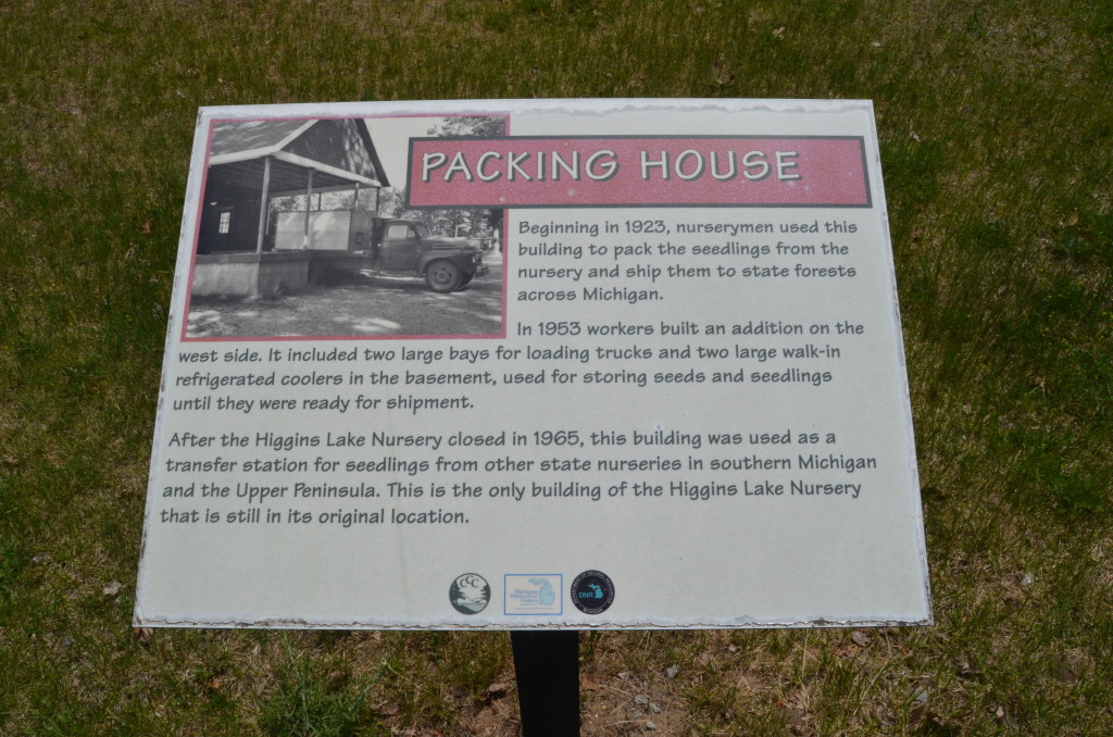 Michigan Civilian Conservation Corps Museum Packing House Sign