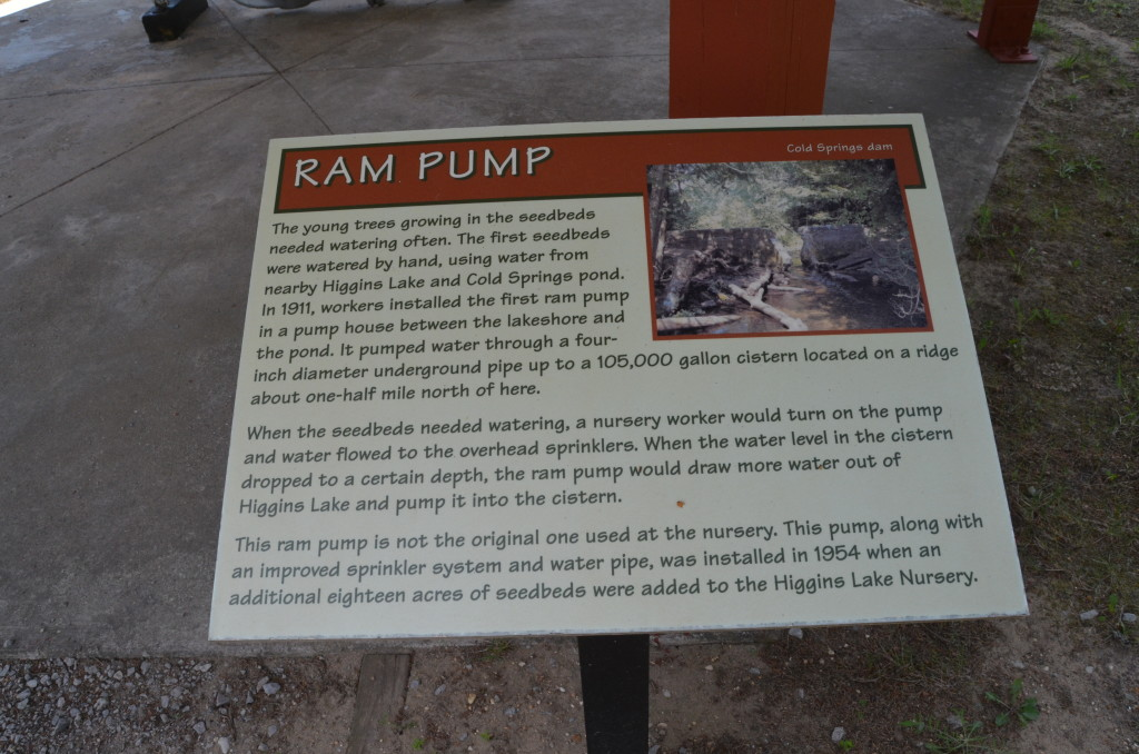 Michigan Civilian Conservation Corps Museum Ram Pump SIgn