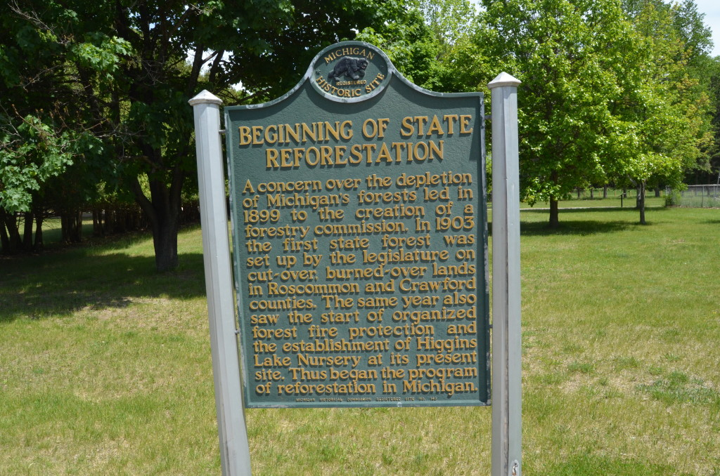 Michigan Civilian Conservation Corps Museum State Reforestation Marker