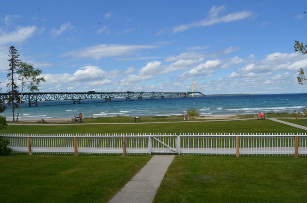 Old Mackinac Point Lighthouse Bridge View Fence