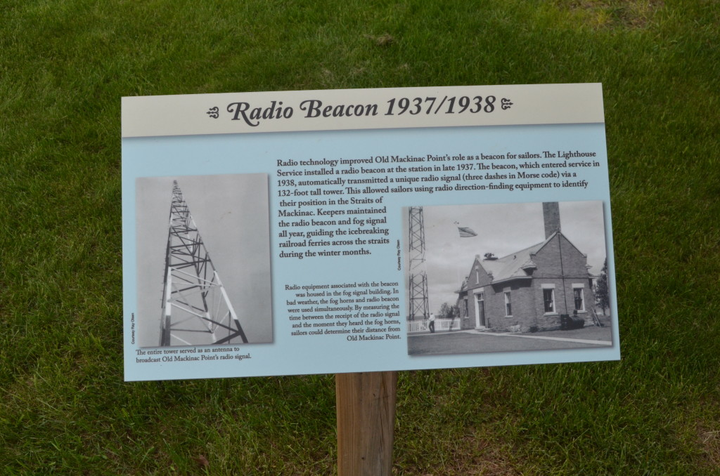 Old Mackinac Point Lighthouse Radio Beacon Sign
