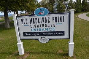 Old Mackinac Point Lighthouse Sign Michigan