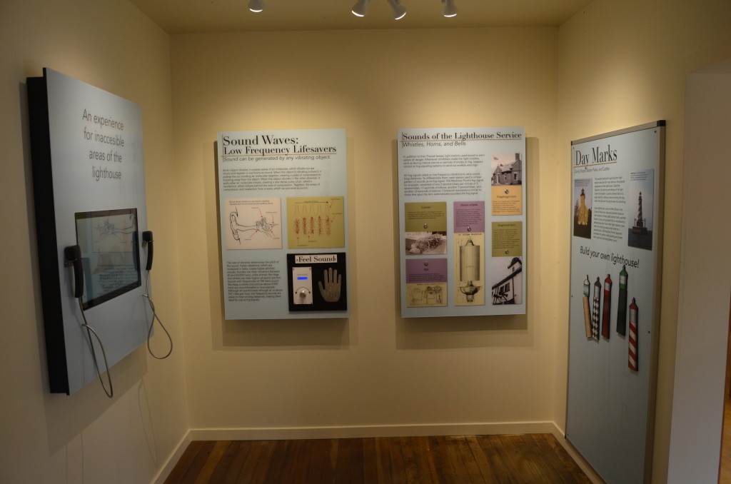Old Mackinac Point Lighthouse Sounds Exhibit