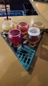 HOMES Brewery Flight Ann Arbor Michigan