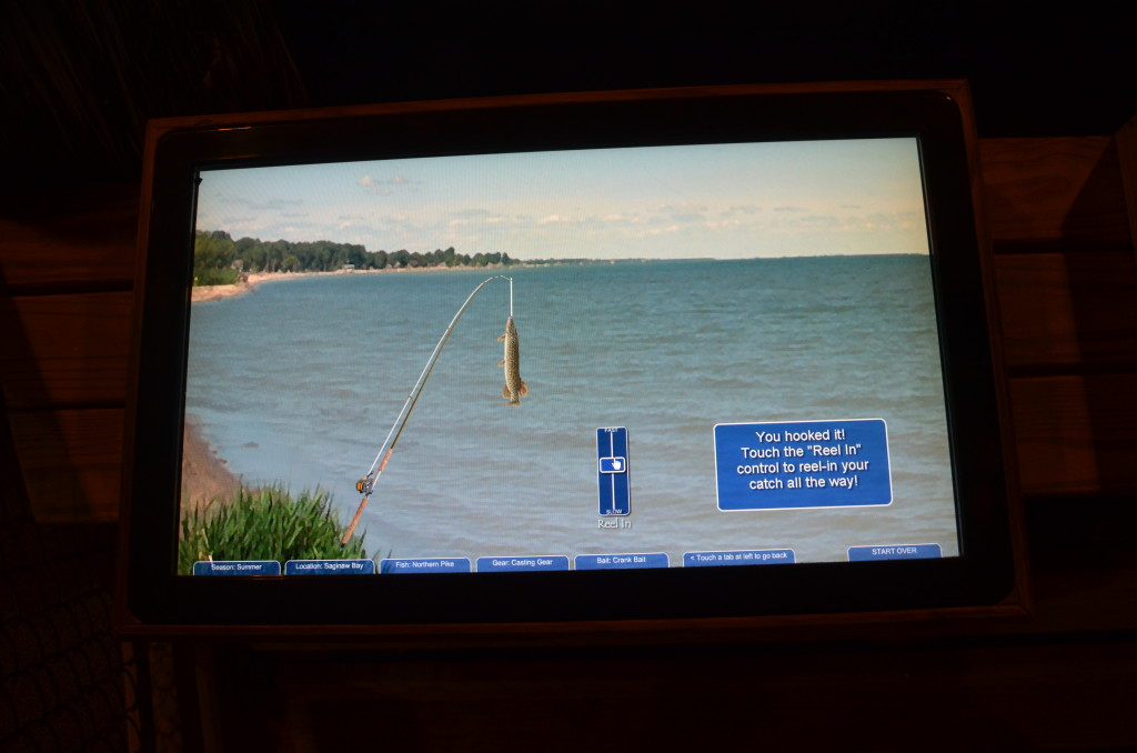 Bay City State Park Visitor Center Fishing Simulator Michigan