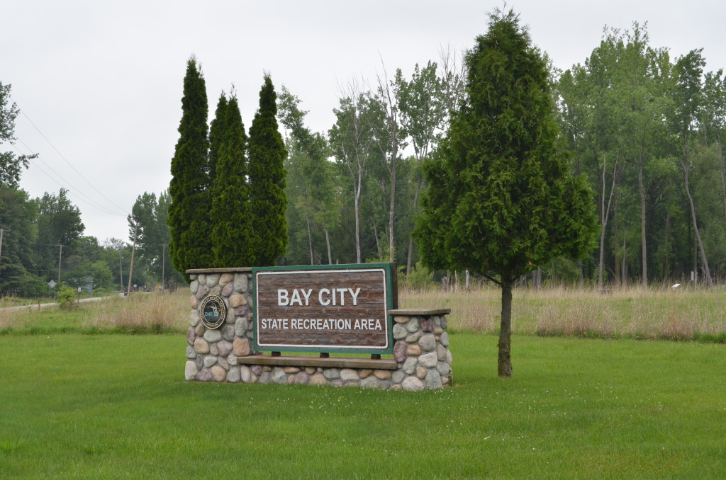 Bay City State Recreation Area Sign Michigan