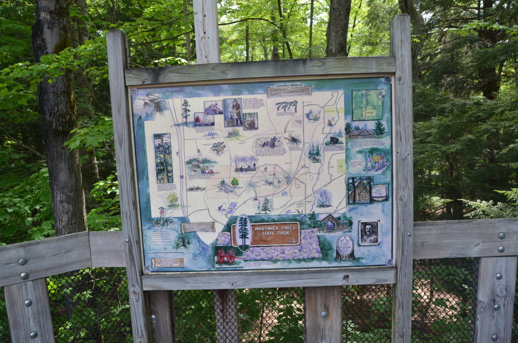 Hartwick Pines State Park Map Michigan