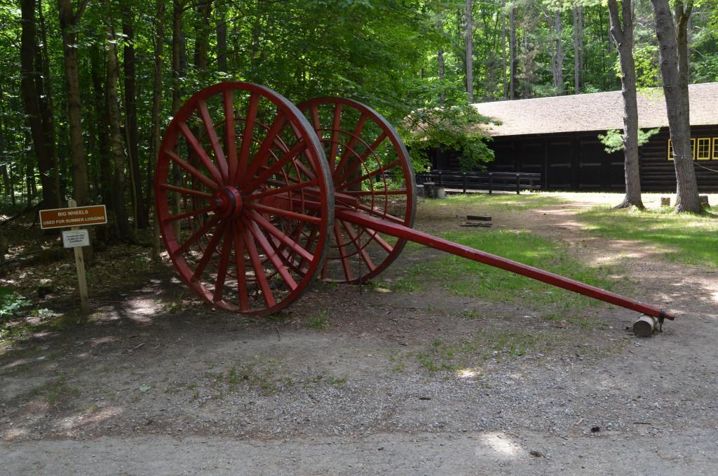 Hartwick Pines State Park Museum Big Wheels