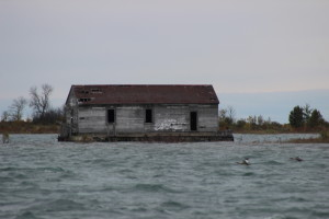 Thunder Bay Island Lighthouse Boathouse Lake Huron Michigan