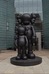 Waiting by Kaws Detroit Michigan Sculpture