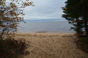Whitefish Bay Scenic Byway Bark Dock Area Michigan