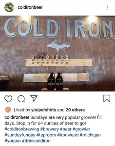 Cold Iron Brewing Iron Mountain Michigan