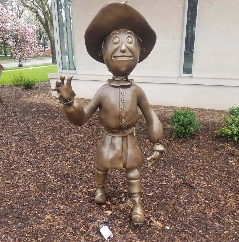 Holland's Wizard of Oz statues, herrick District Library, April