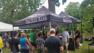 Odd Side Ales booth at 2019 Summer Beer Festival