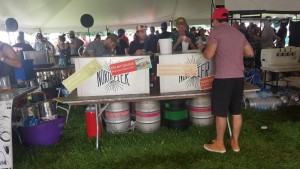 North Pier booth at 2019 Summer Beer Festival