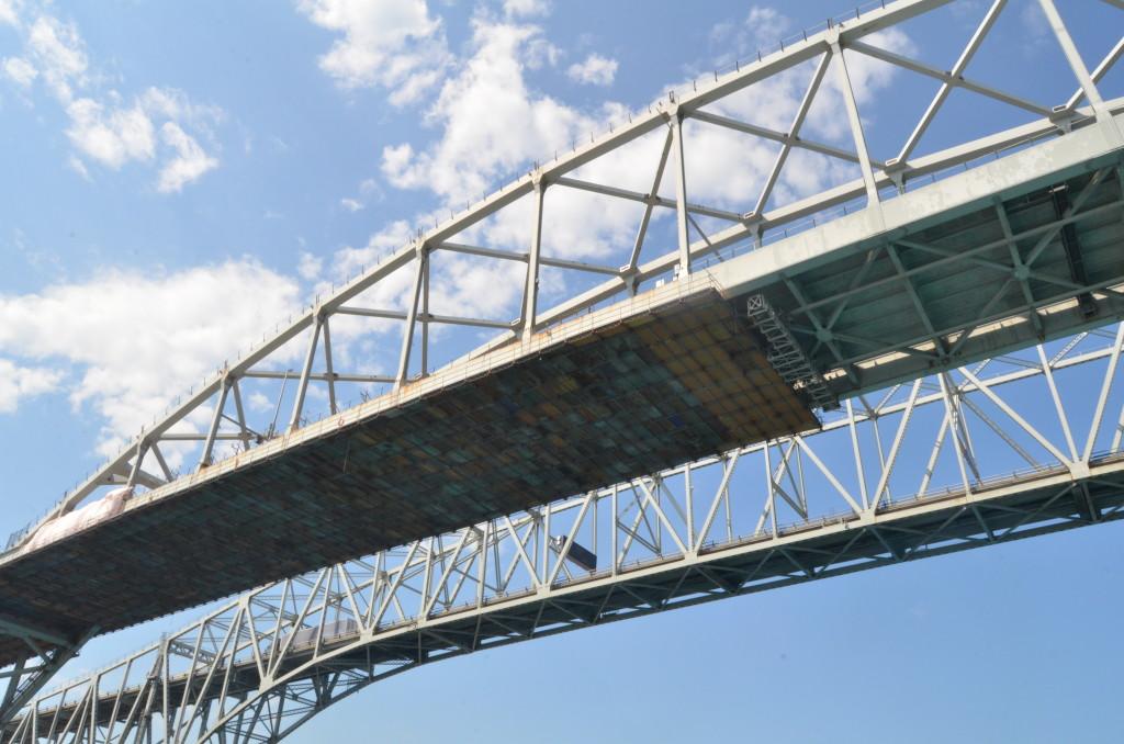 Huron Lady Cruises Blue Water Bridge Close UP