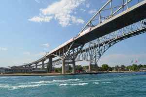 Huron Lady Cruises Blue Water Bridge MI St. Clair River