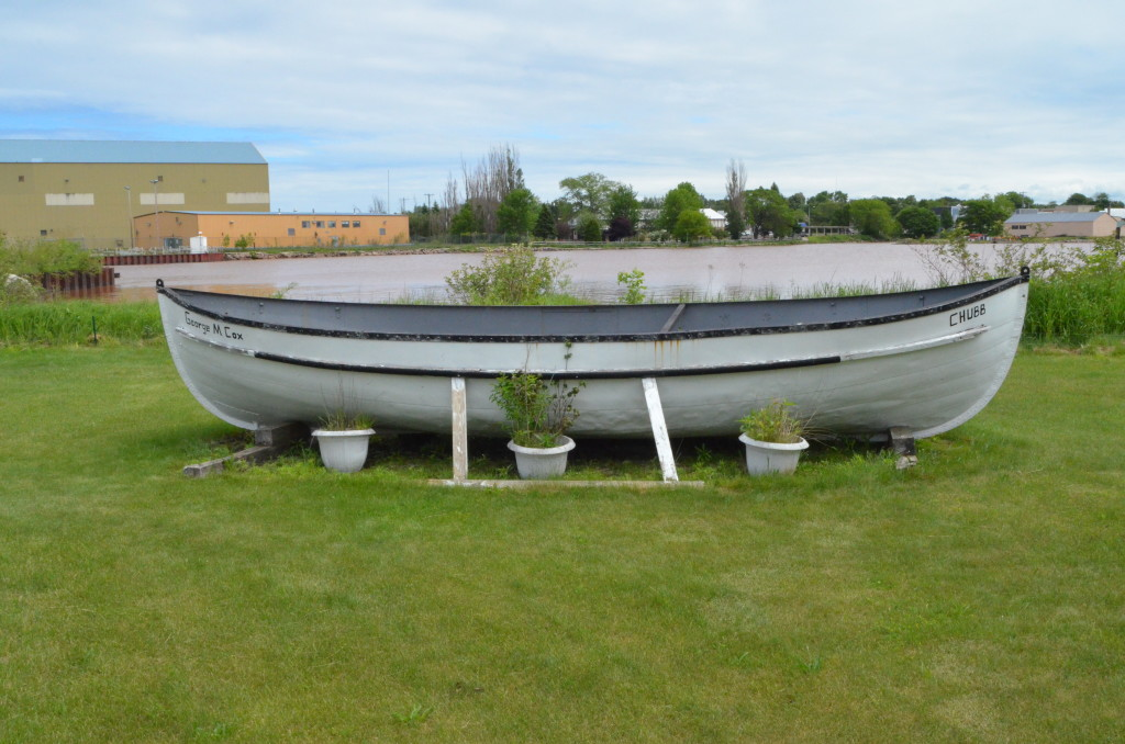 Ontonagon Lighthouse Rowboat Planter