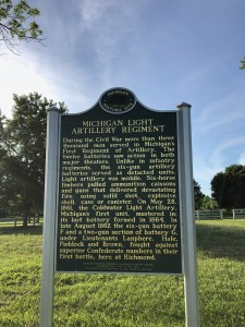 Michigan Civil War Light Artillery Regiment Kentucky