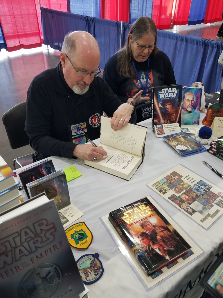 Grand Rapids Comic Con 2019 Timothy Zahn Book Signing