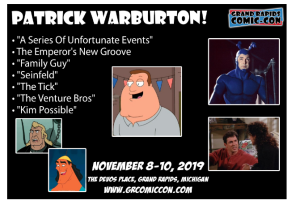 Patrick Warburton Grand Rapis Comic Con
