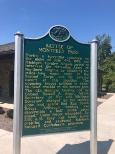 Battle of Monterey Pass Michigan Historic Marker