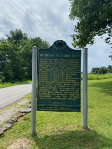 Michigan Historical Marker Tebbs Bend Kentucky Civil War