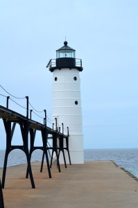 Manistee North Pierhead Lighthouse Lake Michigan