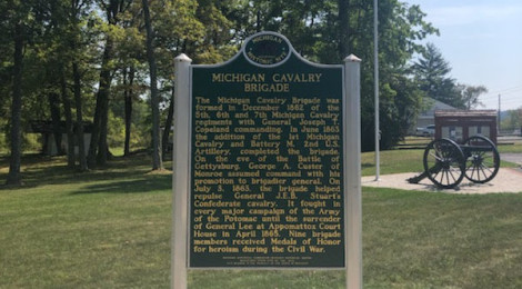 Michigan Civil War History: Out of State Historical Markers