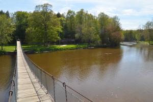 Croswell Swinging Bridge Michigan Black River