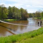 The Famous Croswell Swinging Bridge (Michigan's Longest Suspension Footbridge), Sanilac County